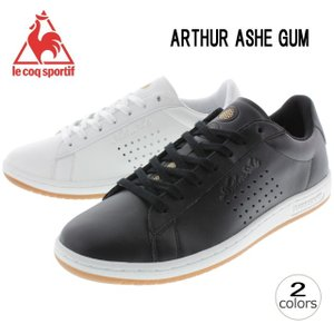 10%OFF ルコック スポルティフ le coq sportif アーサーアッシュ ガム ARTHUR ASHE GUM 1620956(ブラック) 1620957(オプティカルホワイト)|sneaker-soko