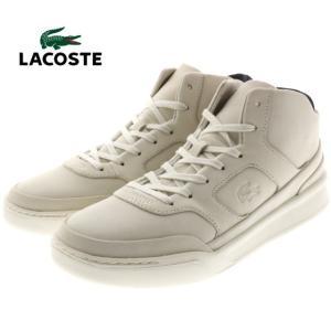 10%OFF ラコステ LACOSTE エクスプロラトゥール ミッド 316 1 EXPLORATEUR MID 316 1 オフホワイトヌバック MCK040-098|sneaker-soko