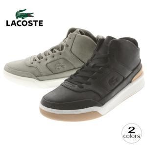 10%OFF ラコステ LACOSTE エクスプロラトゥール ミッド 316 2 EXPLORATEUR MID 316 2 ブラックレザー ダークグレーレザー MCK096|sneaker-soko