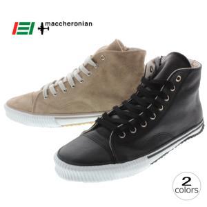 10%OFF マカロニアン maccheronian 2208Z ブラック ベージュスエード|sneaker-soko