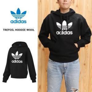 20%OFF アディダス adidas トレフォイル フーディー ウール TREFOIL HOODIE WOOL ブラック AY5235|sneaker-soko