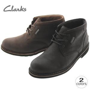 10%OFF クラークス Clarks ローズ ミッド ゴアテックス LAWES NID GTX ブラックレザー(B) ダークブラウンレザー(DBR) 635E|sneaker-soko