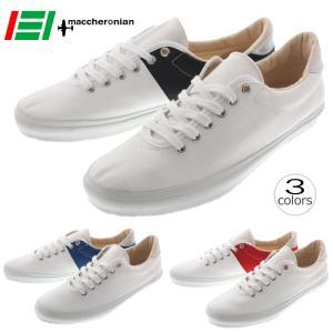 マカロニアン maccheronian 0039F ホワイト/ブラック ホワイト/ブルー ホワイト/レッド|sneaker-soko
