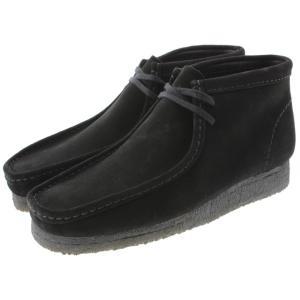 クラークス Clarks ワラビーブーツ WALLABEE BOOT ブラックスエード 455E-BS|sneaker-soko