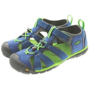 子供 キーン KEEN シーキャンプ ツー シーエヌエックス SEACAMP 2 CNX トゥルーブルー/ジャスミングリーン (YOUTH) 1014479|sneaker-soko
