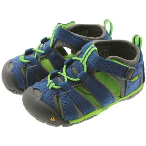 子供 キーン KEEN シーキャンプ ツー シーエヌエックス SEACAMP 2 CNX トゥルーブルー/ジャスミングリーン (TOTS) 1014443|sneaker-soko
