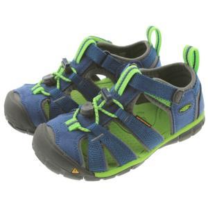 子供 キーン KEEN シーキャンプ ツー シーエヌエックス SEACAMP 2 CNX トゥルーブルー/ジャスミングリーン (CHILDREN) 1014471|sneaker-soko
