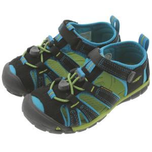 子供 キーン KEEN シーキャンプ ツー シーエヌエックス SEACAMP 2 CNX ブラック/ブルーダニューブ (CHILDREN) 1016426|sneaker-soko