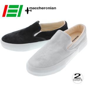 マカロニアン maccheronian スニーカー 4012S 17FW1 ホワイトリバース ブラックリバース|sneaker-soko