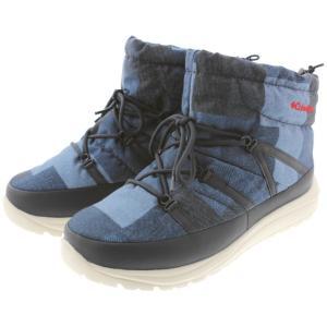 コロンビア Columbia ブーツ スピンリール チャッカ アドバンス ウォータープルーフ オムニヒート YU3893-429 コロンビア ネイビー パッチワーク|sneaker-soko