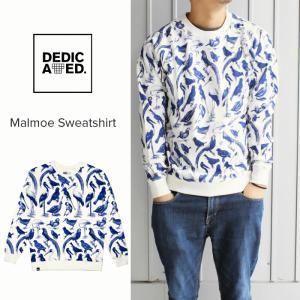 デディケイテッド DEDICATED マルメ スウェットシャツ ブルーバード オフホワイト 15611|sneaker-soko