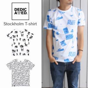 デディケイテッド DEDICATED ストックホルム Tシャツ Stockholm T-shirt スキーカレッジ(15653)ピースパターン(15667)ダンスピープル(15699)|sneaker-soko