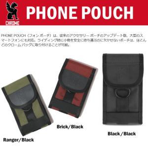 クローム CHROME フォン ポーチ PHONE POUCH AC-135 ブラック/ブラック(BKBK) レンジャー/ブラック(MLBK) ブリック/ブラック(BRIK)|sneaker-soko