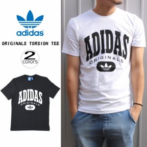 アディダス adidas オリジナルス トルション Tシャツ ORIGINALS TORSION TEE ブラック(BQ3069) ホワイト(BQ3070)|sneaker-soko