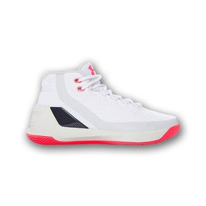 UNDER ARMOUR CURRY 3 GS アンダーアーマー カリー 3 【GIRL'S】 white/elemental/pink chrome 1274061-107