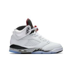 47a59aa4dd2af1 AIR JORDAN 5 RETRO GS  CEMENT  エア ジョーダン 5 レトロ セメント  BOY S  white university  red-black 440888-104
