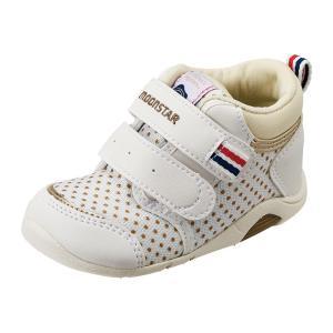 ムーンスター ベビー靴 ベビーシューズ キッズ CR B75 ホワイト|sneakers-trend