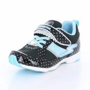 子供靴 バネのチカラ ムーンスター SSK915 ブラック 女の子 キッズ スニーカー|sneakers-trend