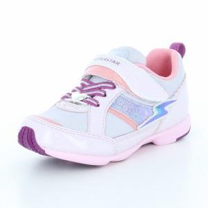 子供靴 バネのチカラ ムーンスター SSK915 パープル 女の子 キッズ スニーカー|sneakers-trend