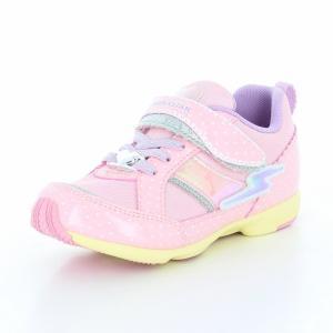 子供靴 バネのチカラ ムーンスター SSK915 ピンク 女の子 キッズ スニーカー|sneakers-trend