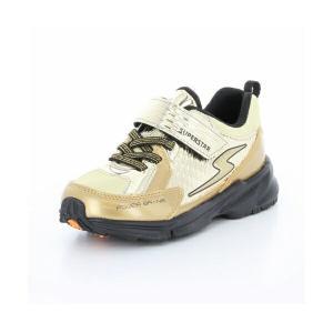 子供靴 バネのチカラ ムーンスター SSK916 ゴールド 3E 男の子 キッズ スニーカー|sneakers-trend