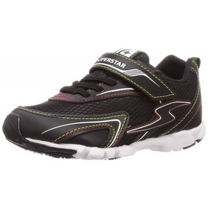 子供靴 バネのチカラ ムーンスター SSK917 BK ブラック 2E 男の子 キッズ スニーカー|sneakers-trend