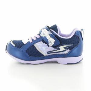 子供靴 バネのチカラ ムーンスター SSK934 NVネイビー 2E 女の子 キッズ スニーカー|sneakers-trend