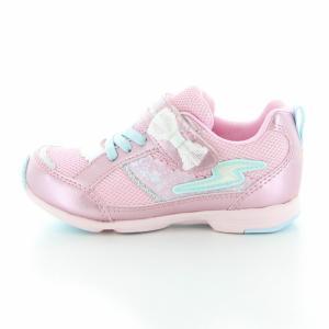 子供靴 バネのチカラ ムーンスター SSK934 PKピンク 2E 女の子 キッズ スニーカー|sneakers-trend