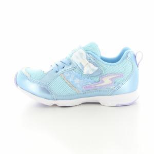 子供靴 バネのチカラ ムーンスター SSK934 SK サックス 2E 女の子 キッズ スニーカー|sneakers-trend