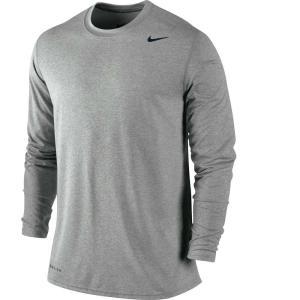 (ナイキ)Nike Dri-FIT Legend メンズ  トレーニングシャツ ロンT Heather Grey サイズ:L|sneakersuppliers
