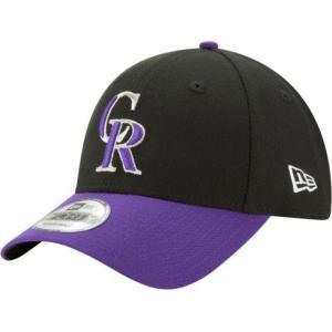 ニューエラ メンズ 帽子 キャップ Men's Colorado Rockies 9Forty Black Adjustable Hat|sneakersuppliers
