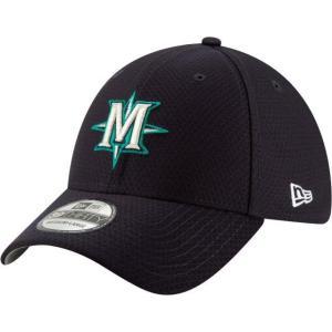 ニューエラ メンズ 帽子 キャップ Men's Seattle Mariners 39Thirty HexTech Batting Practice Stretch Fit Hat|sneakersuppliers