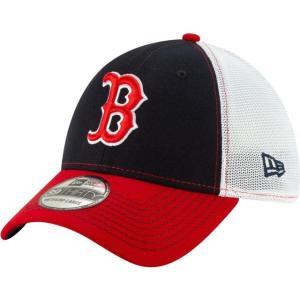 ニューエラ メンズ 帽子 キャップ Men's Boston Red Sox 39Thirty Practice Piece Stretch Fit Hat|sneakersuppliers