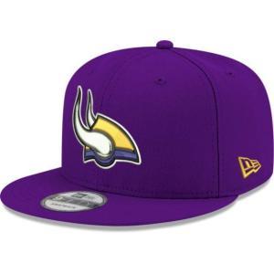 ニューエラ メンズ 帽子 キャップ Men's Minnesota Vikings Elemental 9Fifty Adjustable Purple Hat|sneakersuppliers