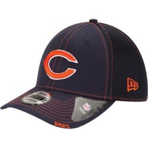 ニューエラ メンズ 帽子 キャップ Men's Chicago Bears 39Thirty Neoflex Navy Stretch Fit Hat|sneakersuppliers