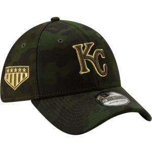 ニューエラ メンズ 帽子 キャップ Men's Kansas City Royals 39Thirty Armed Forces Stretch Fit Hat|sneakersuppliers