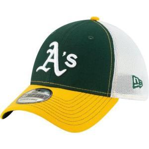 ニューエラ メンズ 帽子 キャップ Men's Oakland Athletics 39Thirty Practice Piece Stretch Fit Hat|sneakersuppliers