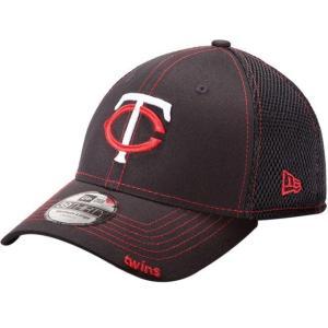 ニューエラ メンズ 帽子 キャップ Men's Minnesota Twins 39Thirty Neo Navy Stretch Fit Hat|sneakersuppliers