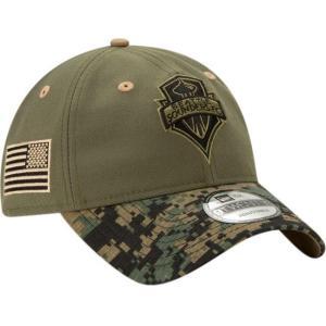 ニューエラ メンズ 帽子 キャップ Men's Seattle Sounders Military Appreciation 9Twenty Adjustable Hat|sneakersuppliers