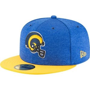 ニューエラ メンズ 帽子 キャップ Men's Los Angeles Rams Sideline Home 59Fifty Royal Throwback Fitted Hat|sneakersuppliers