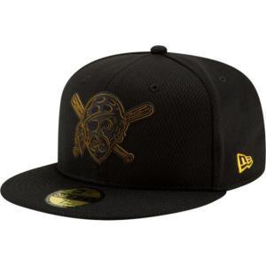 ニューエラ メンズ 帽子 キャップ Men's Pittsburgh Pirates 59Fifty Clubhouse Black Fitted Hat|sneakersuppliers