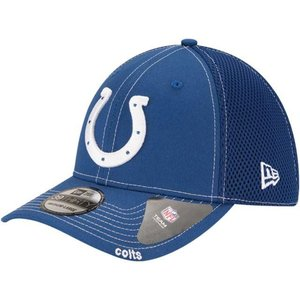 ニューエラ メンズ 帽子 キャップ Men's Indianapolis Colts 39Thirty Neoflex Blue Stretch Fit Hat|sneakersuppliers