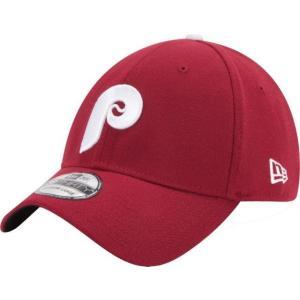 ニューエラ メンズ 帽子 キャップ Men's Philadelphia Phillies 39Thirty Cooperstown Classic Maroon Stretch Fit Hat|sneakersuppliers