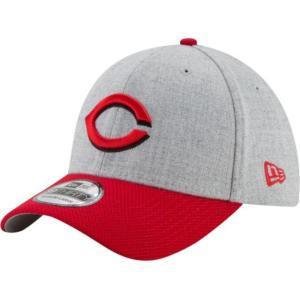 ニューエラ メンズ 帽子 キャップ Men's Cincinnati Reds 39Thirty Change Up Redux Grey Stretch Fit Hat|sneakersuppliers