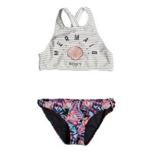 ロキシー ガールズ 水着 Girls' Surfing Miami Crop Top Bikini Set|sneakersuppliers