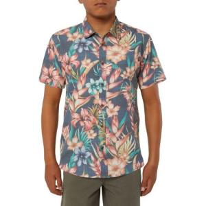 オニール ボーイズ シャツ トップス Boys' Blissful Short Sleeve Button Up Shirt|sneakersuppliers