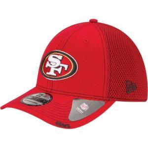 ニューエラ メンズ 帽子 キャップ Men's San Francisco 49ers 39Thirty Neoflex Red Stretch Fit Hat|sneakersuppliers