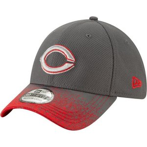 ニューエラ ユニセックス 帽子 キャップ Youth Cincinnati Reds 39Thirty Blur Visor Stretch Fit Hat|sneakersuppliers