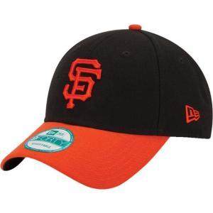 ニューエラ メンズ 帽子 キャップ Men's San Francisco Giants 9Forty Black Adjustable Hat|sneakersuppliers