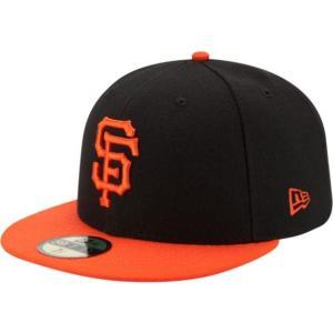ニューエラ メンズ 帽子 キャップ Men's San Francisco Giants 59Fifty Alternate Black Authentic Hat|sneakersuppliers